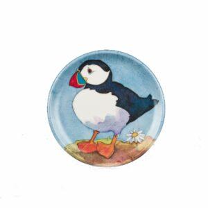 Playful Puffins Round Coaster (M26)