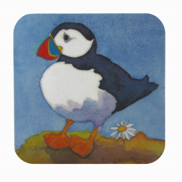 Playful Puffins Moulded Coaster Box of 4 (M55)