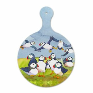 Playful Puffins Chopping Board (M40)