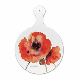 Red Poppies Chopping Board (M40)