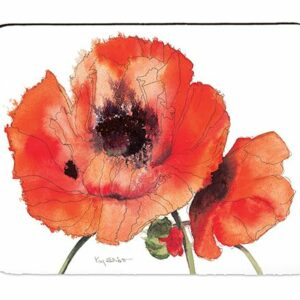 Red Poppies Melamine Place Mat Box 4 (M46)