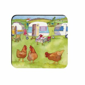 Glamping Moulded Coaster (M29)