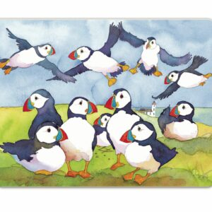 Playful Puffins Moulded Placemat Box 4 (M56)