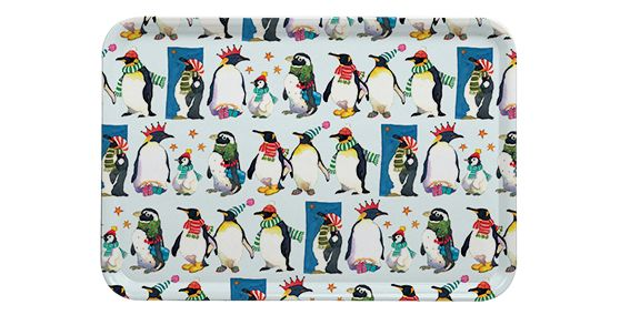Winter Penguins Large Tray (M7)