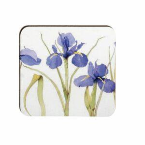 M55 Blue Iris Moulded Coaster Box 4 (M55)