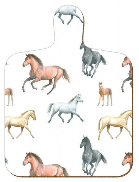 M1 Horses Mini Chopping Board