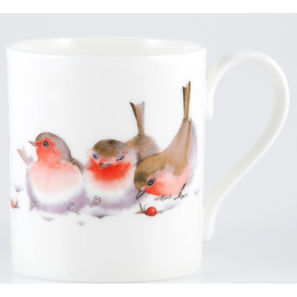 Winter Robins Bone China Mug (M33)