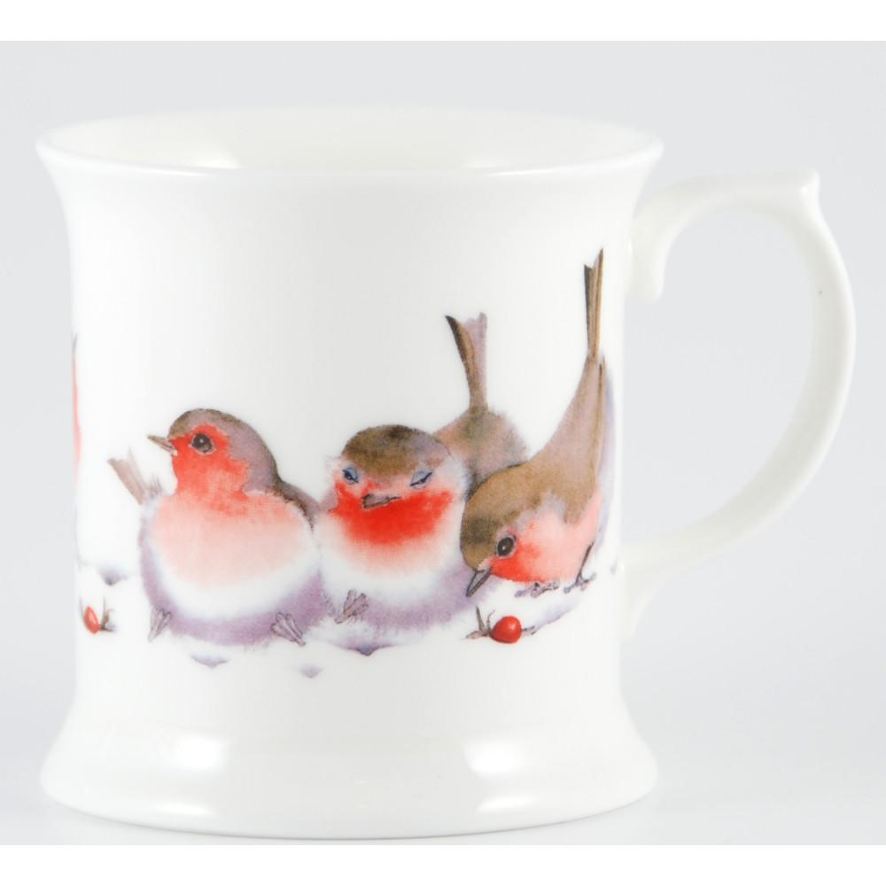 Winter Robins Bone China Tankard (M34)