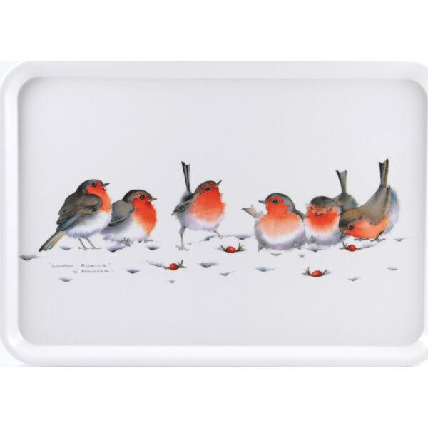 Winter Robins Large Tray (M7)