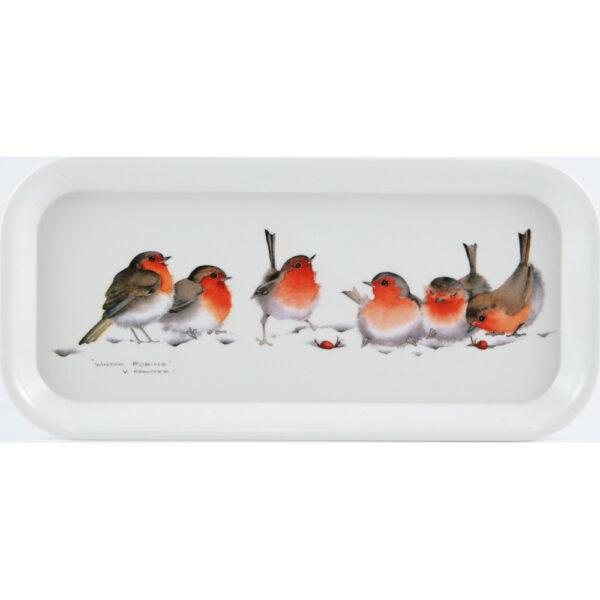 Winter Robins Oblong Tray (M19)
