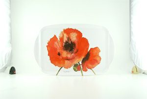 Red Poppies Handle Tray (M2)