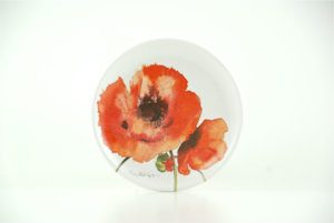 Red Poppies Round Coaster (M26)