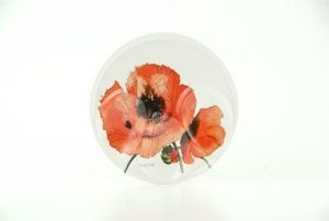 Red Poppies Spoon Rest (M11)