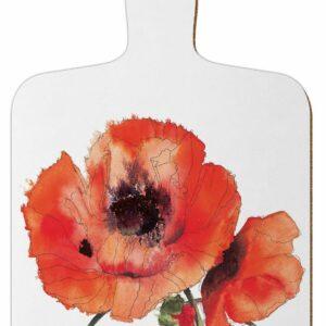 M1 Red Poppies Mini Chopping Board
