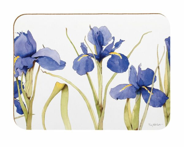 M46 Blue Iris Laminated Placemats Pack of 4