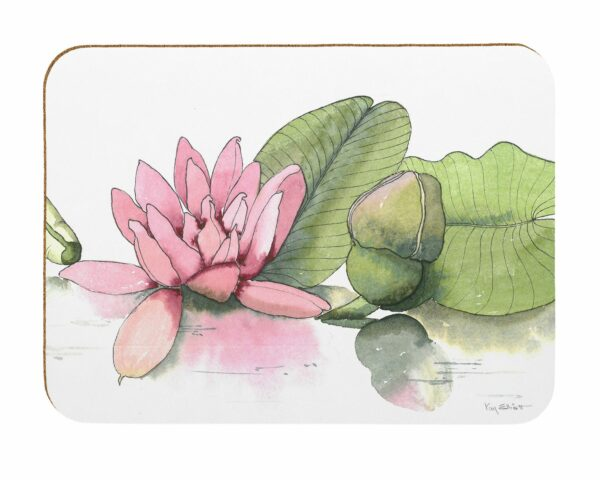 M46 Water Lilies Laminated Placemats Pack of 4