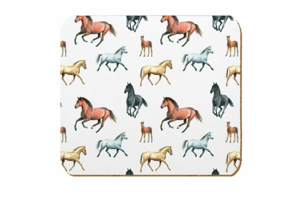 M47 Horse Laminated Coasters Pack of 4