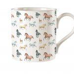 M33 Horses Bone China Mug