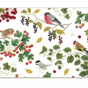 M56 Winter Birds Moulded Placemat Pack of 4