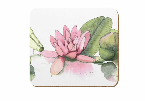 M47 Water Lilies Laminated Coaster Pack of 4