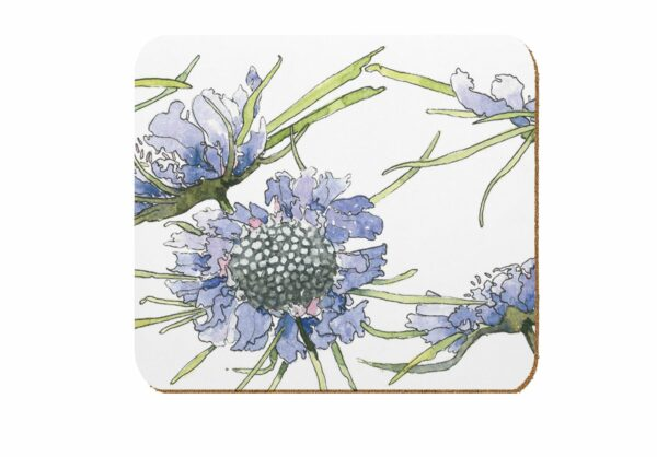 M47 Scabious Laminated Coaster Pack of 4