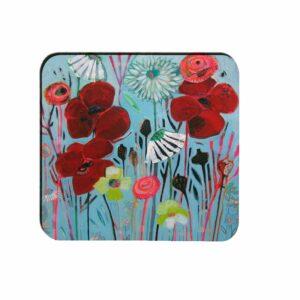 M29 Square Melamine Coaster Flowery Poppet