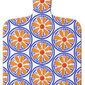 M1 Laminate Mini Chopping Board Orange and Blue Petal
