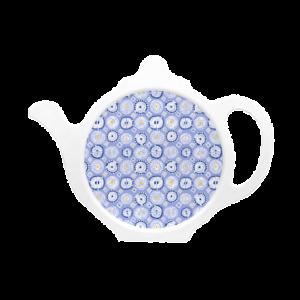Custom melamine printed tea coaster in blue