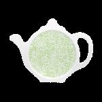 Custom melamine printed tea coaster in green with wild flowers