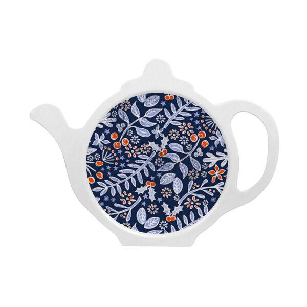 M27 Winter Floral Melamine Tea Bag Tidy