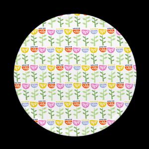 Custom melamine printing - multi coloured coaster with flowers