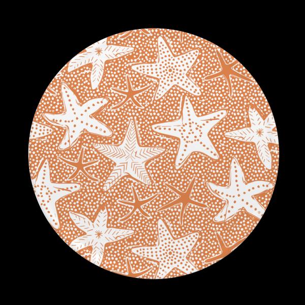 Starfish print melamine product