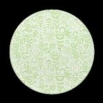 Custom melamine printing - green coaster with wild flowers